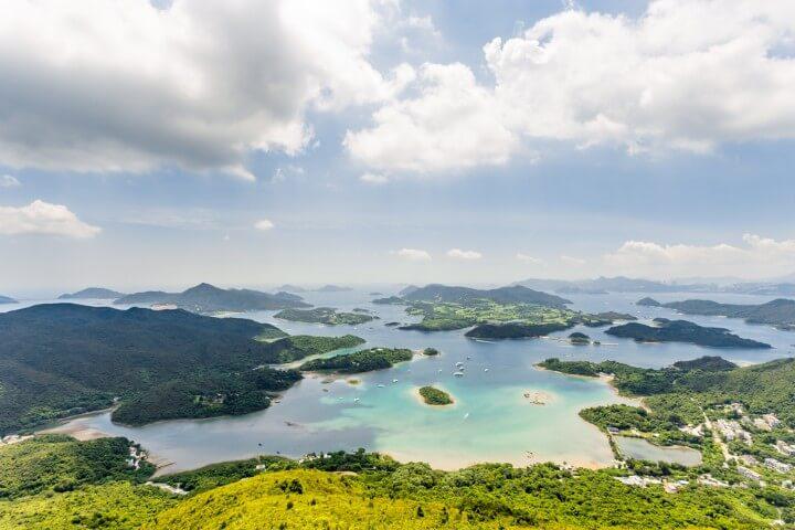 sai kung - aerial view - in hong kong