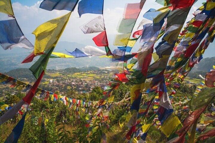 Kathmandu valley in nepal