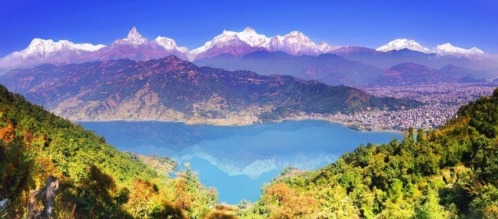 Pokhara in nepal