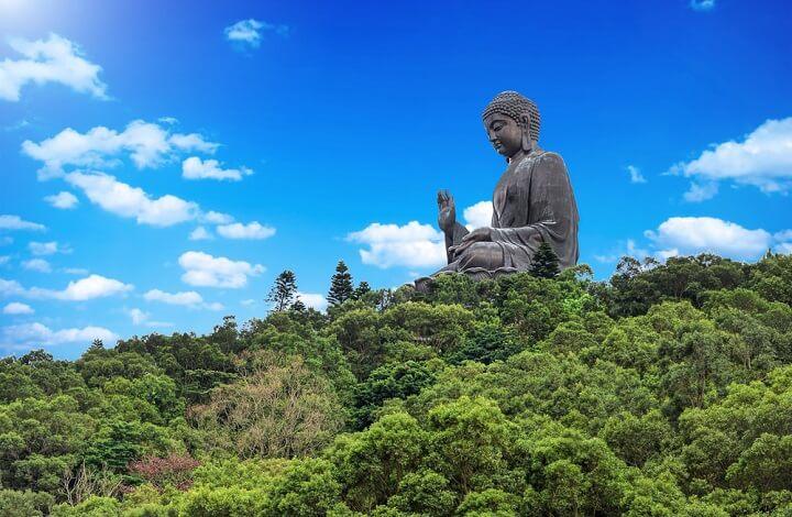 Big Buddha in Lantau Peak