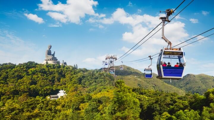 ngong ping cable car in hong kong