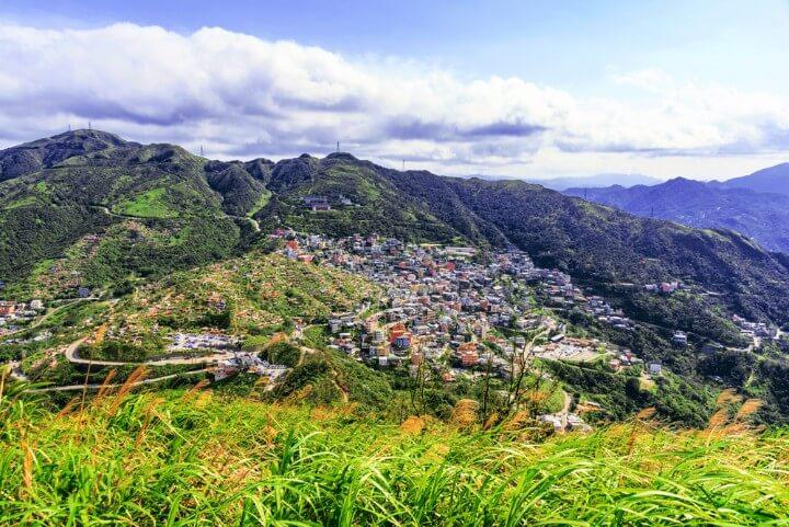 Mount Jilong in Jiufen - taiwan