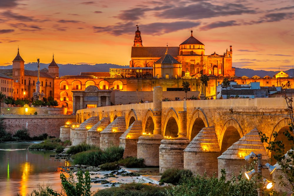 The Roman bridge in Cordoba