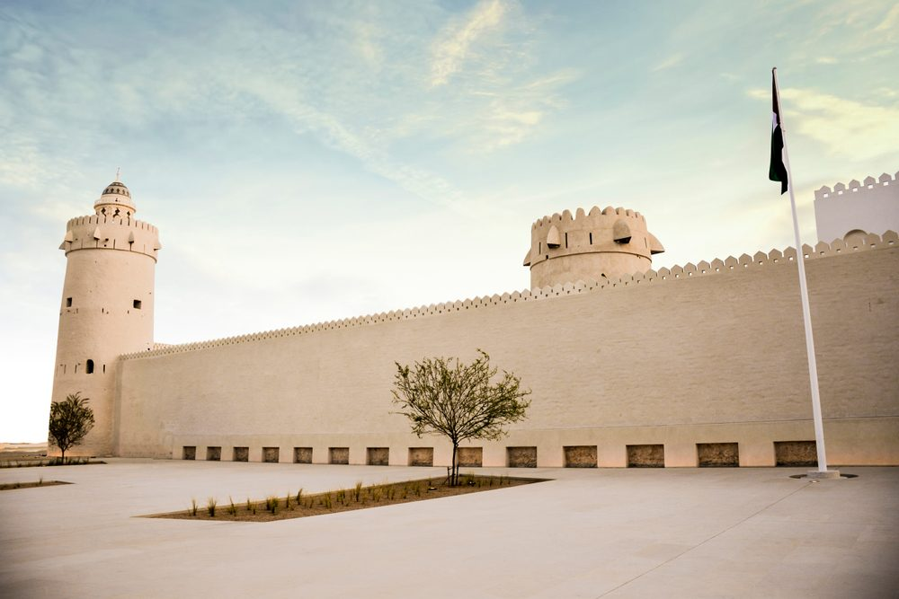Qasr Al-Hosn, also called Old Fort or White Fort, the oldest building of Abu Dhabi