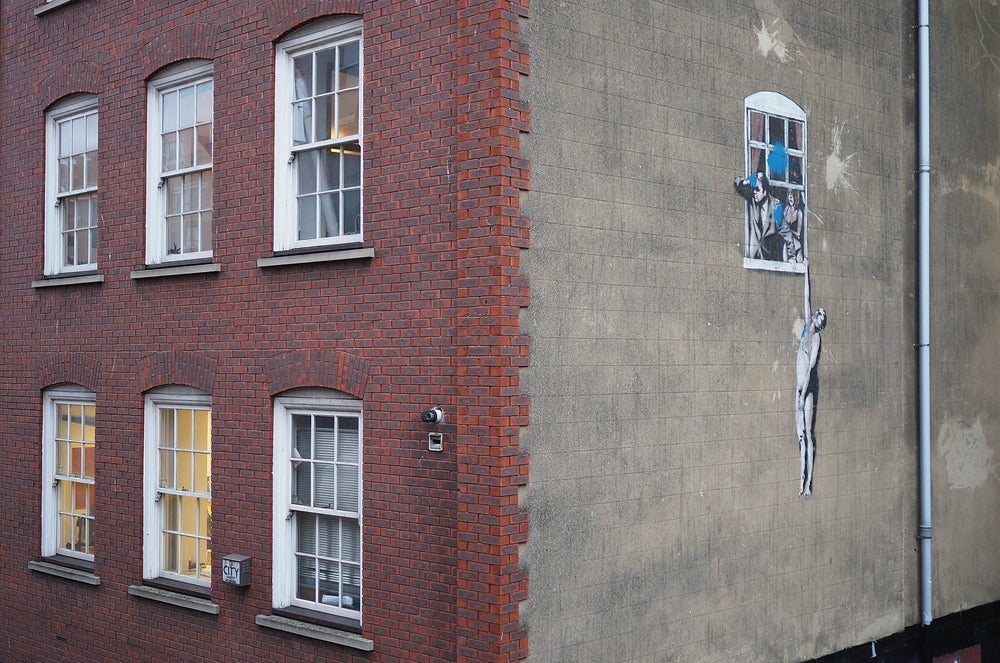 Banksy street art in Bristol