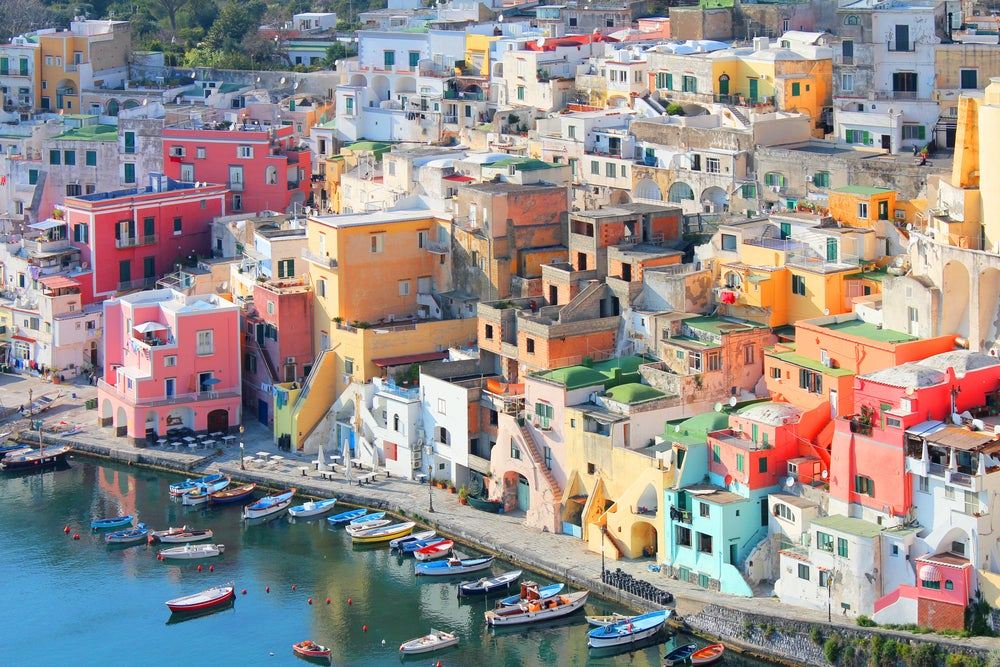 Colourful houses in Procida, Italy