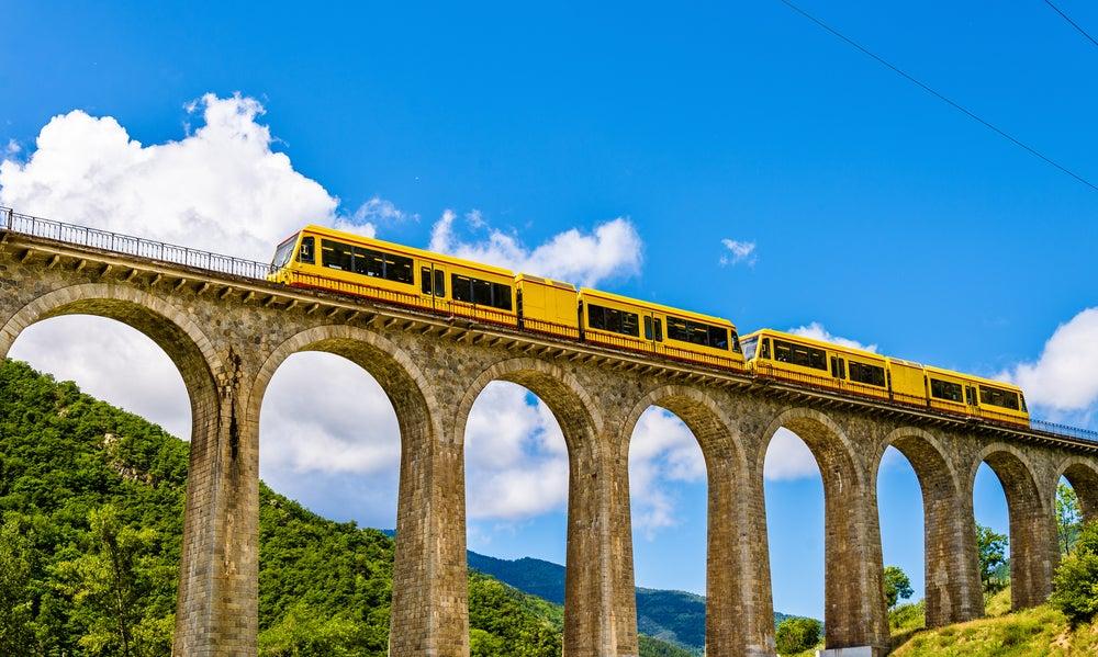 Train Jaune, France