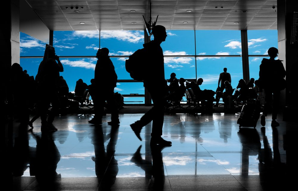 Airport full of people
