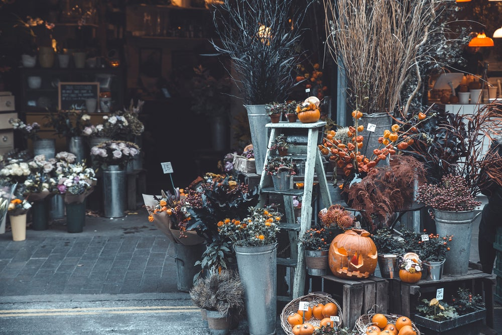 Pumpkins on sale in London