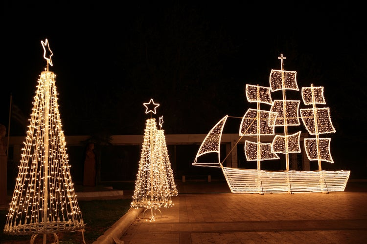Christmas boats in Greece