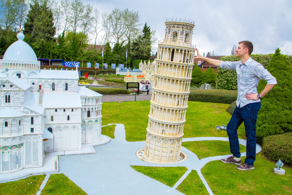 Leaning tower of Pisa at mini-Europe