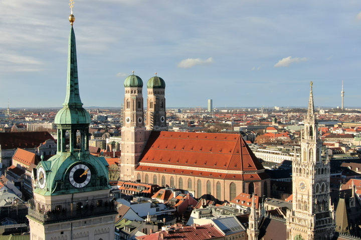 View from Old Peter church in Munich