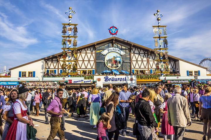 Oktoberfest tent in Munich, Germany