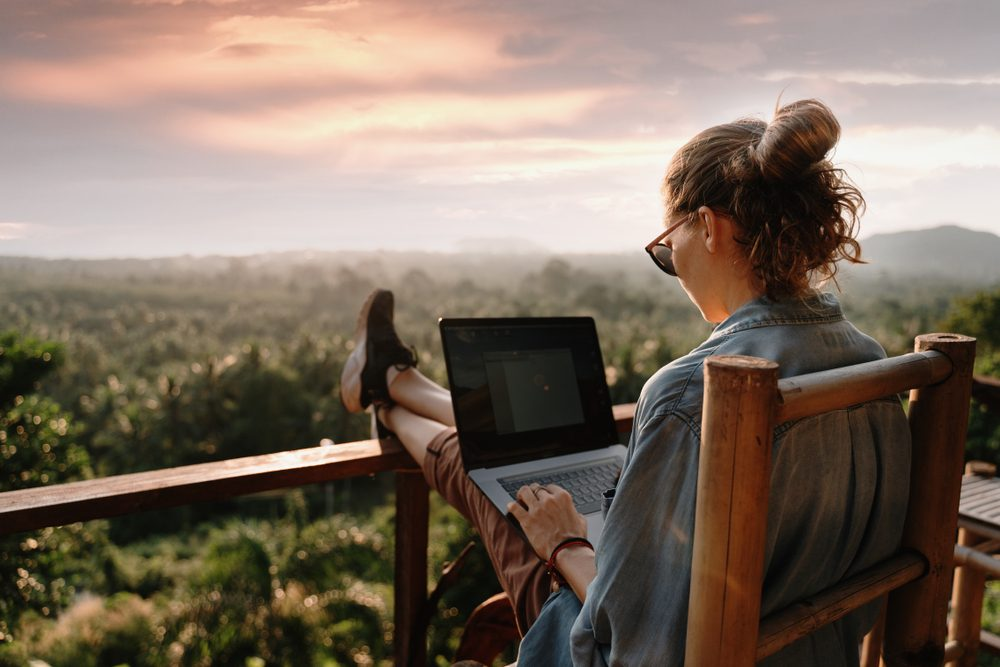 Remote working in nature