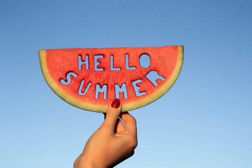 Hello summer watermelon slice