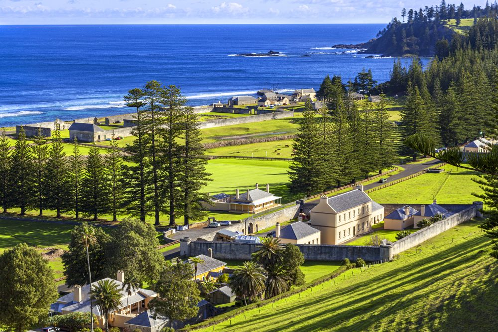 The old penitentiary on Norfolk Island
