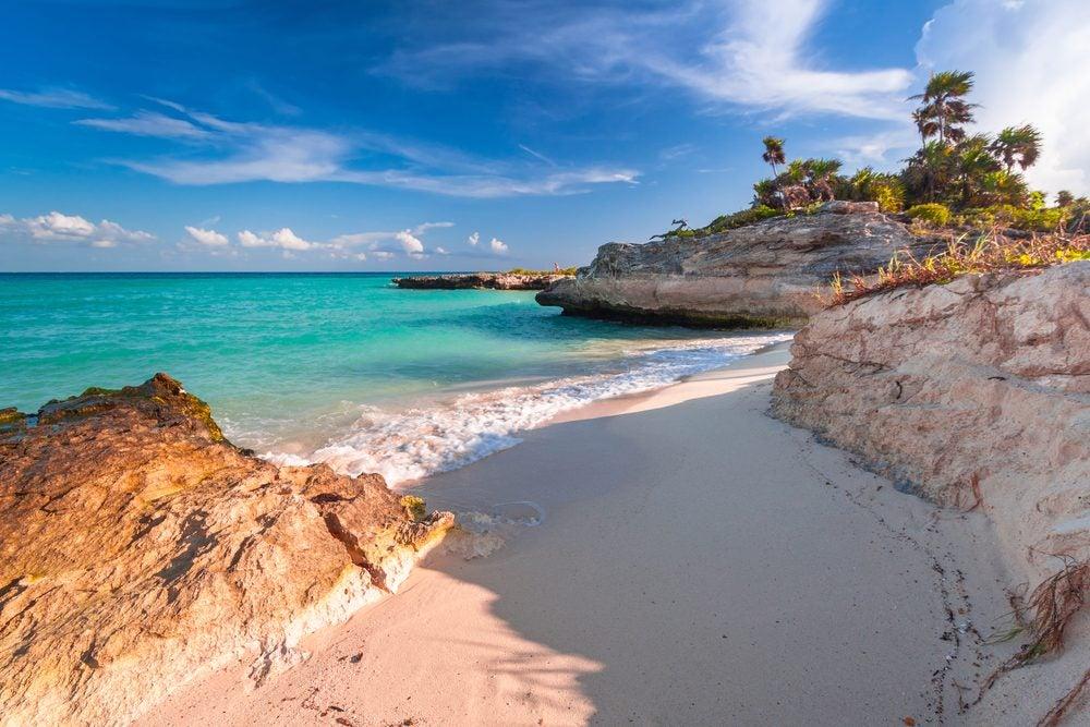 Beach at Playa del Carmen, Mexico