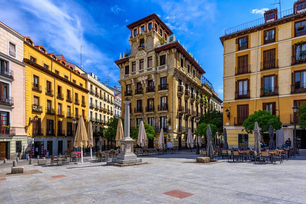 Old Square in Madrid, Spain